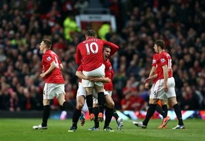 Rooney e Van Persie (Infophoto)