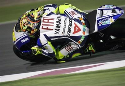 Valentino Rossi sulla Yamaha: lo rivedremo nel 2013 (Infophoto)