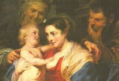 Rubens, Sacra famiglia con sant'Anna, particolare (anni 20 sec. XVII) (Immagine d'archivio)