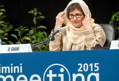 Rula Ghani al Meeting di Rimini (Infophoto)