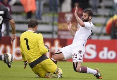 Antonio Nocerino, 29 anni, contro il Rubin Kazan (dall'account Twitter ufficiale @TorinoFC_1906)