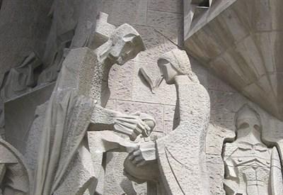 A. Gaudì, Sagrada Familia, particolare (Immagine d'archivio)