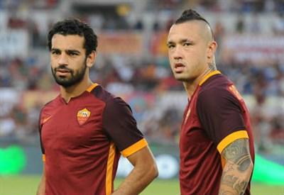 Mohamed Salah (sinistra), 23 anni e Radja Nainggolan, 27 (INFOPHOTO)