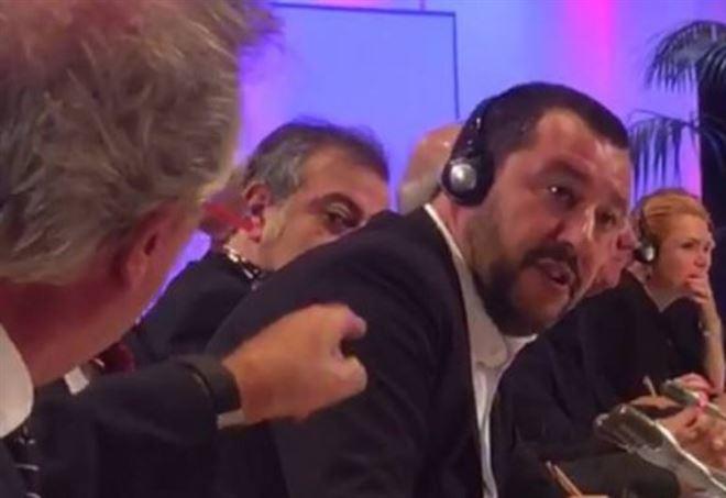Scontro Asselborn-Salvini a Vienna (Facebook)