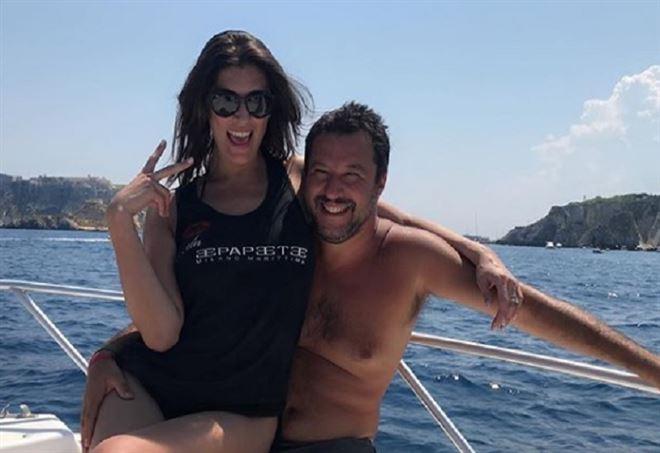 Matteo Salvini e Elisa Isoardi (Instagram)