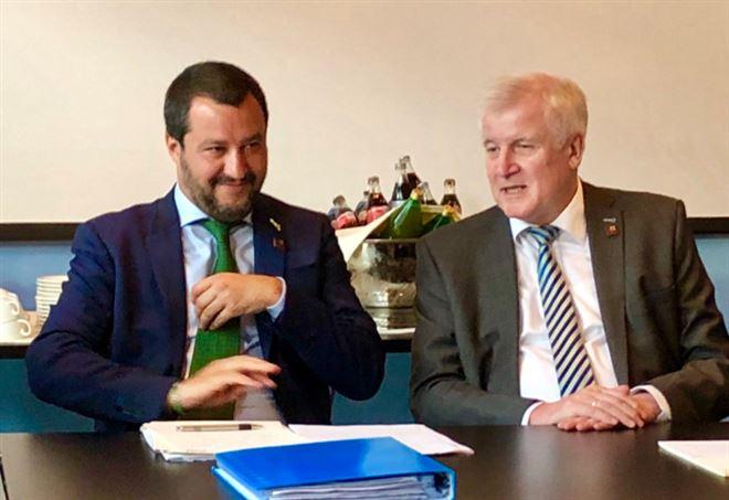 Vertice Salvini-Seehofer a Innsbruck (Twitter Lega)