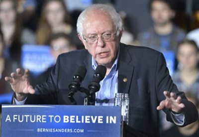 Bernie Sanders, candidato democratico alle Primarie Usa 2016 (Infophoto)
