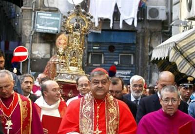 Il cardinale Crescenzio Sepe (Foto InfoPhoto)