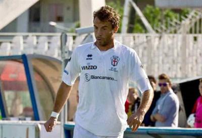Massimiliano Scaglia, 38 anni, terzino della Pro Vercelli (INFOPHOTO)