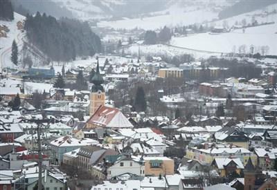Una veduta di Schladming dalla pista Planai (Infophoto)