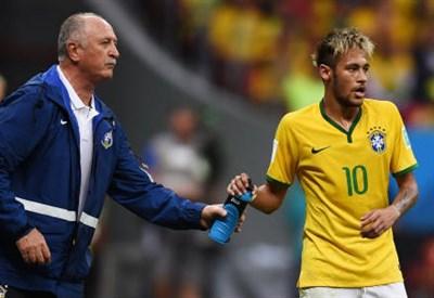 Felipe Scolari (sinistra), 65 anni e Neymar, 22 (INFOPHOTO)