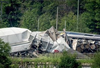 Incidente fra treni (Foto Lapresse)