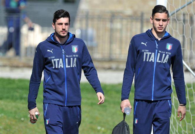 Da sinistra i portieri Simone Scuffet, 21 anni ed Alex Meret, 20, entrambi dell'Udinese (LAPRESSE)