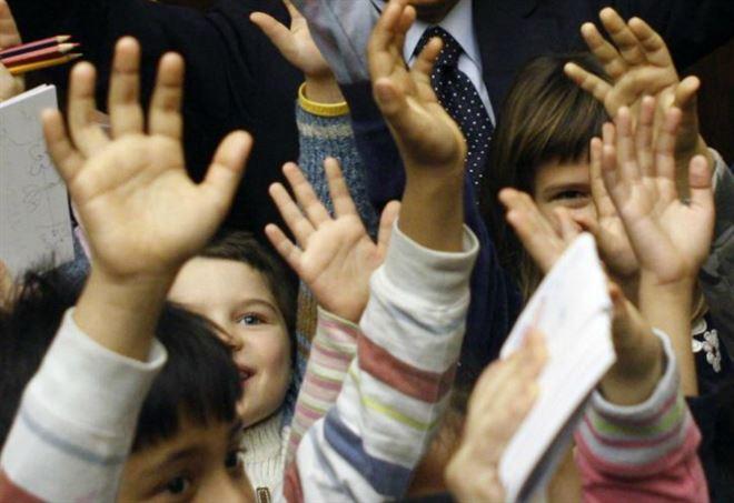Bambini alla scuola materna (Foto d'archivio, LaPresse)