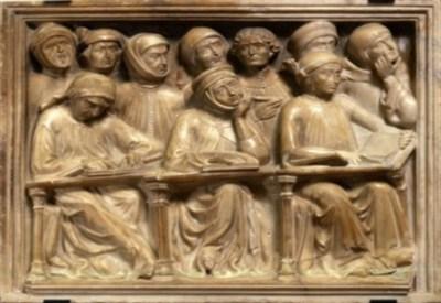 Pier Paolo e Jacobello Dalle Masegne, partic. del monumento funebre al giurista Giovanni da Legnano, 1386 circa (immagine d'archivio)