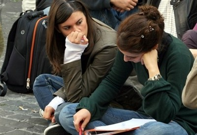 Un gruppo di studenti (Foto: Infophoto)