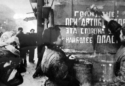 Leningrado, fine della seconda guerra mondiale (Immagine dal web)