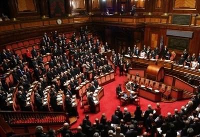 In aula al Senato (Infophoto)