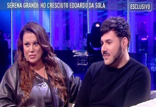Serena Grandi e il figlio Edoardo