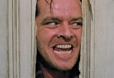 """Jack Nicholson in una scena del film """"Shining"""" di S. Kubrick (Immagine d'archivio)"""