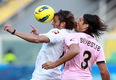 Matias Silvestre, 27 anni, marcato a uomo dall'Inter...e a zona dal Milan (INFOPHOTO)