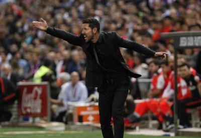 L'argentino Diego Simeone, 45 anni, allenatore dell'Atletico Madrid (INFOPHOTO)
