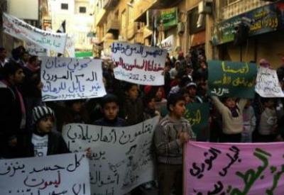 Proteste contro Assad in Siria (InfoPhoto)