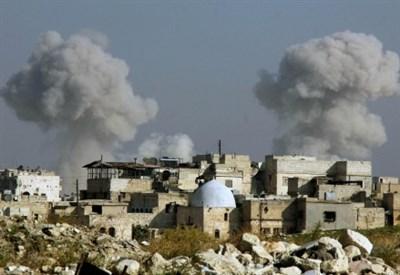 Bombardamenti su Aleppo