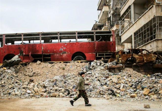 Le macerie di Aleppo (Lapresse)