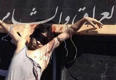 Uno degli uomini barbaramente uccisi a Raqqa, in siria (Immagine d'archivio)