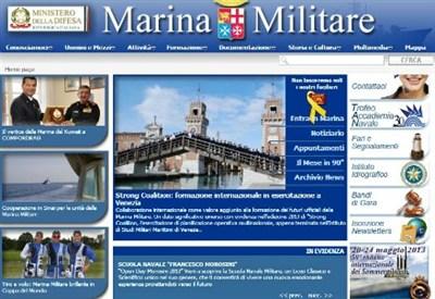 La home page del sito della Marina Militare