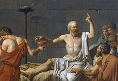 Jacques-Luis David, La morte di Socrate (1787) (Immagine d'archivio)