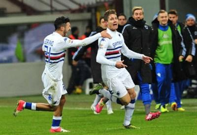 Renan (destra), 27 anni, centrocampista brasiliano della Sampdoria (INFOPHOTO)