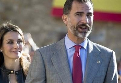 Il principe Felipe Di Spagna con la moglie Letizia Ortiz (Infophoto)