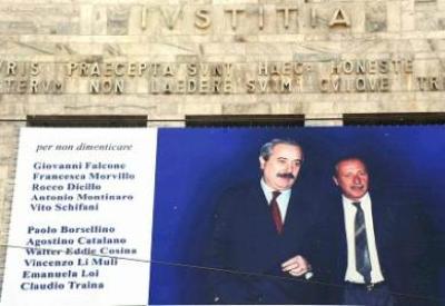 Giovanni Falcone e Paolo Borsellino (Foto: Infophoto)