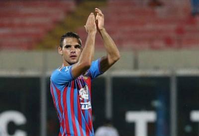 Panagiotis Tachtsidis, 22 anni, centrocampista greco del Catania (INFOPHOTO)