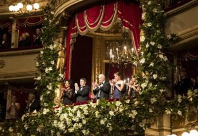 Il palco d'onore del Teatro alla Scala (Foto: Lapresse)