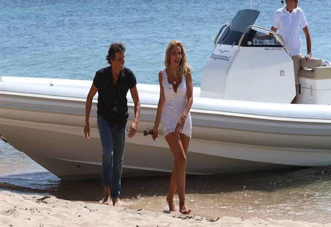 Patrick Baldassari e Valeria Marini