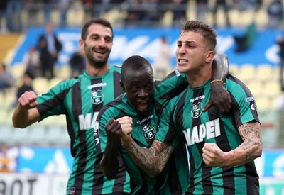 Il Sassuolo gioca contro la Reggina (Infophoto)