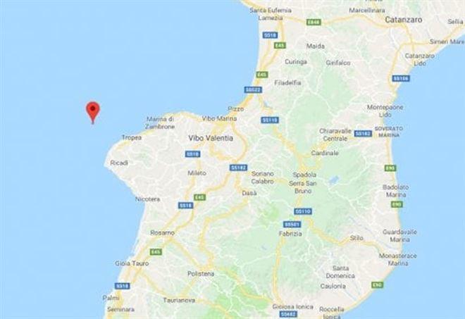 Terremoto questa notte a Calabria, al largo di Tropea
