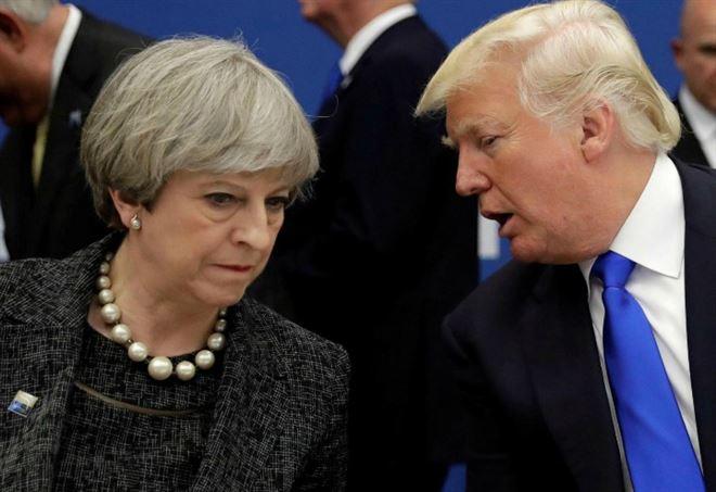 Theresa May e Donald Trump (LaPresse)