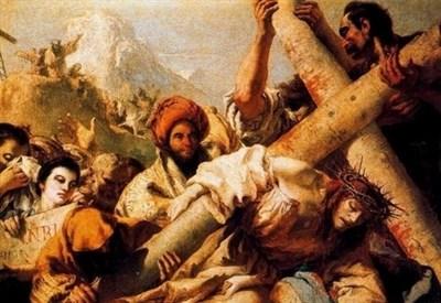 Tiepolo, Caduta di Cristo sulla via del Calvario (1772) (Immagine d'archivio)