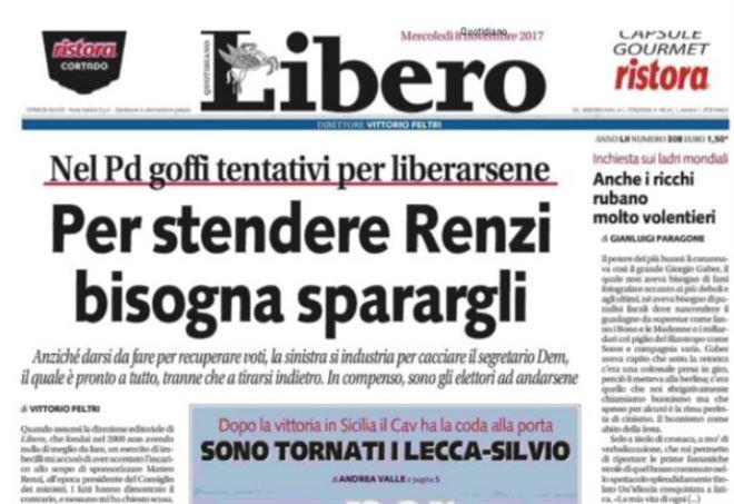 Boldrini vs Vittorio Feltri/ Titolo di Libero su Renzi ...