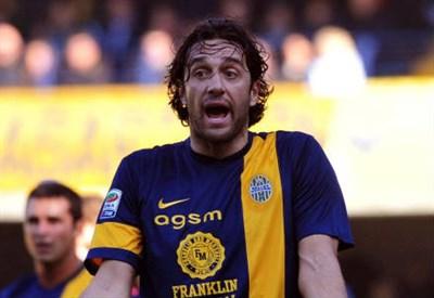 Luca Toni, 36 anni, attaccante del Verona (INFOPHOTO)