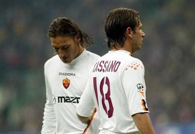 Francesco Totti e Antonio Cassano ai tempi della Roma (Infophoto)