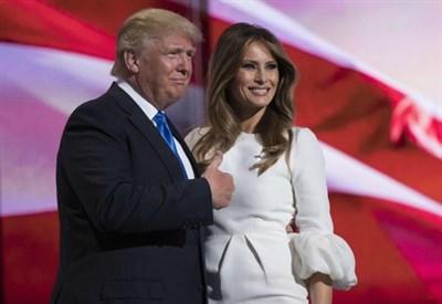 Melania Trump ed il marito, Donald Trump