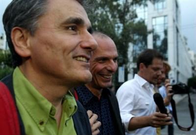 Euclid Tsakalotos con Yanis Varoufakis