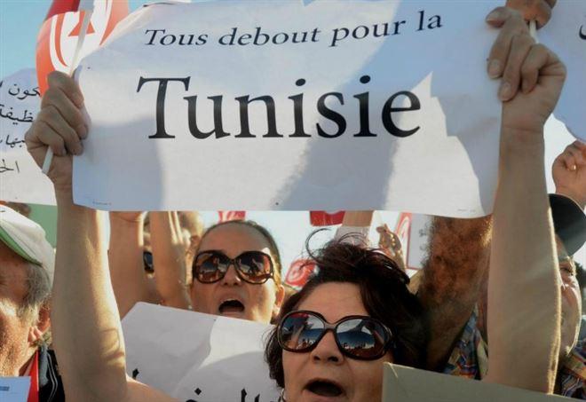 Manifestazione in Tunisia (LaPresse)