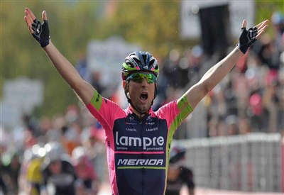 Diego Ulissi nella sua vittoria a Viggiano (da Facebook)