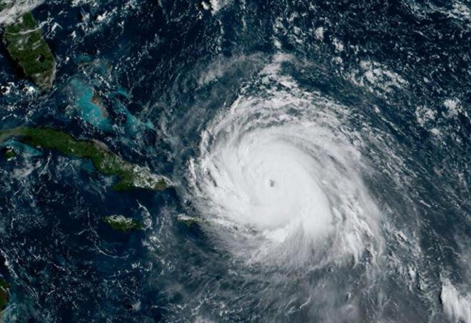 L'uragano Irma visto dal satellite investe Haiti e si dirige verso Cuba (LaPresse)